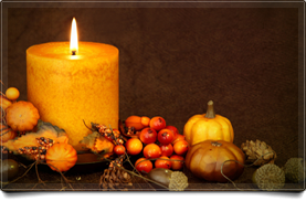 Fall Centerpiece Candle