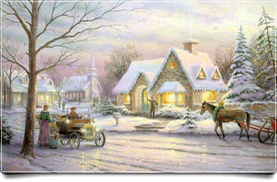 Winter Horse Carriage