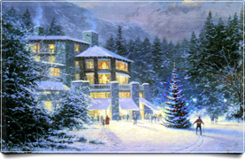 Winter Ski Lodge